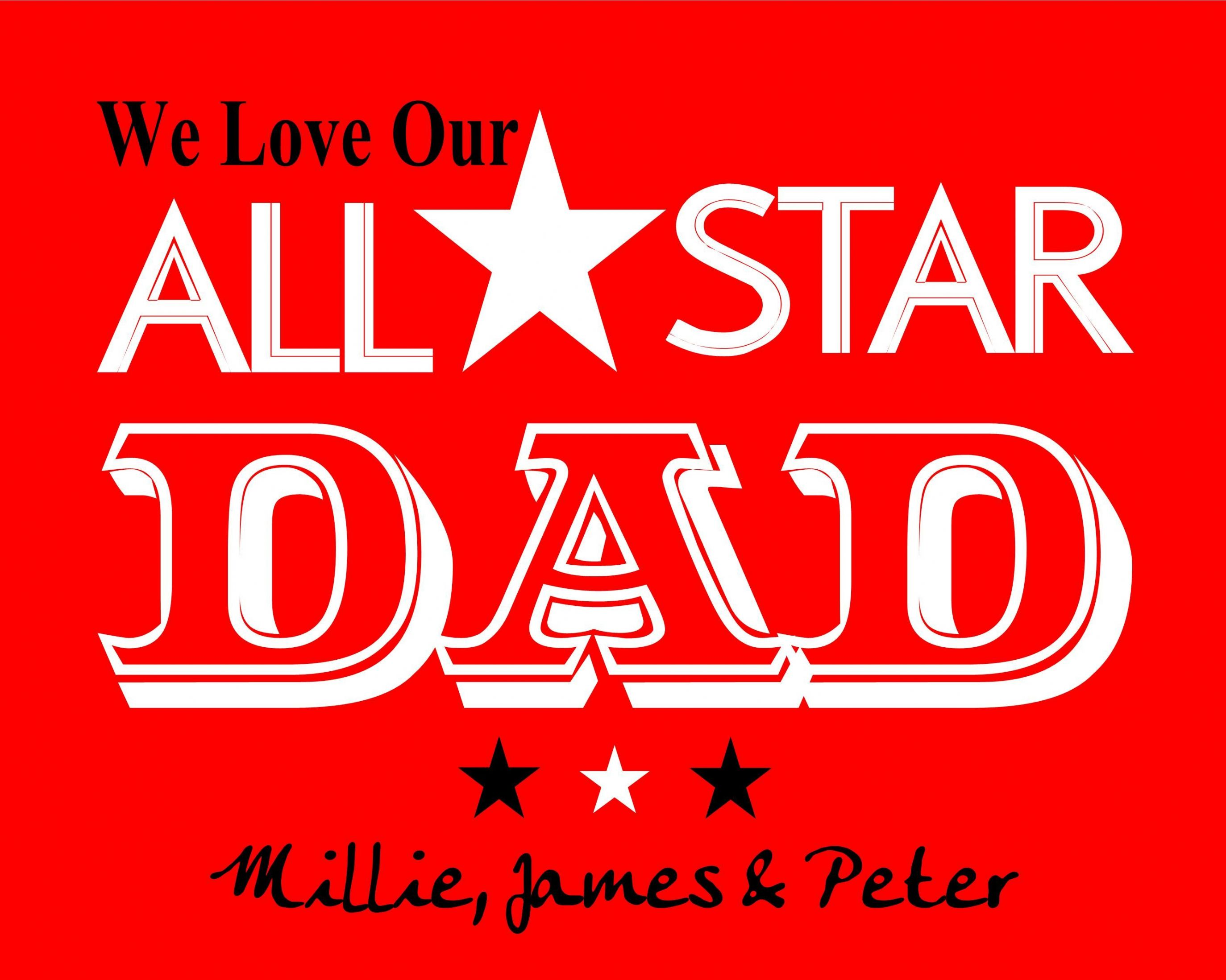 Personalised All Star Dad Print